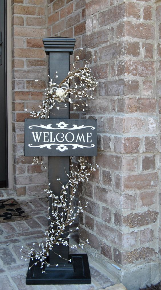 Decorative Welcome Sign Decorative Welcome Porch Post