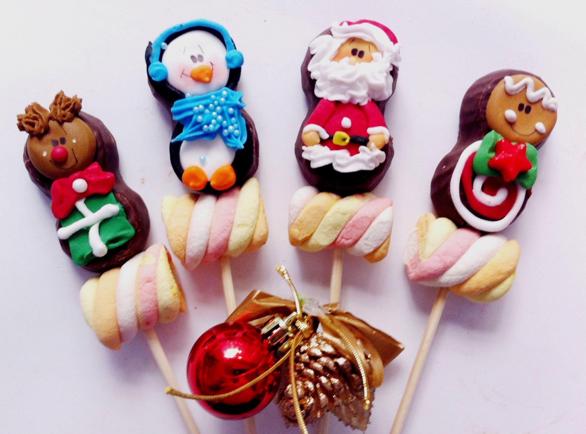 Bubulubu decorado bubulubu chocolate navidad paletas for Figuras de navidad para decorar