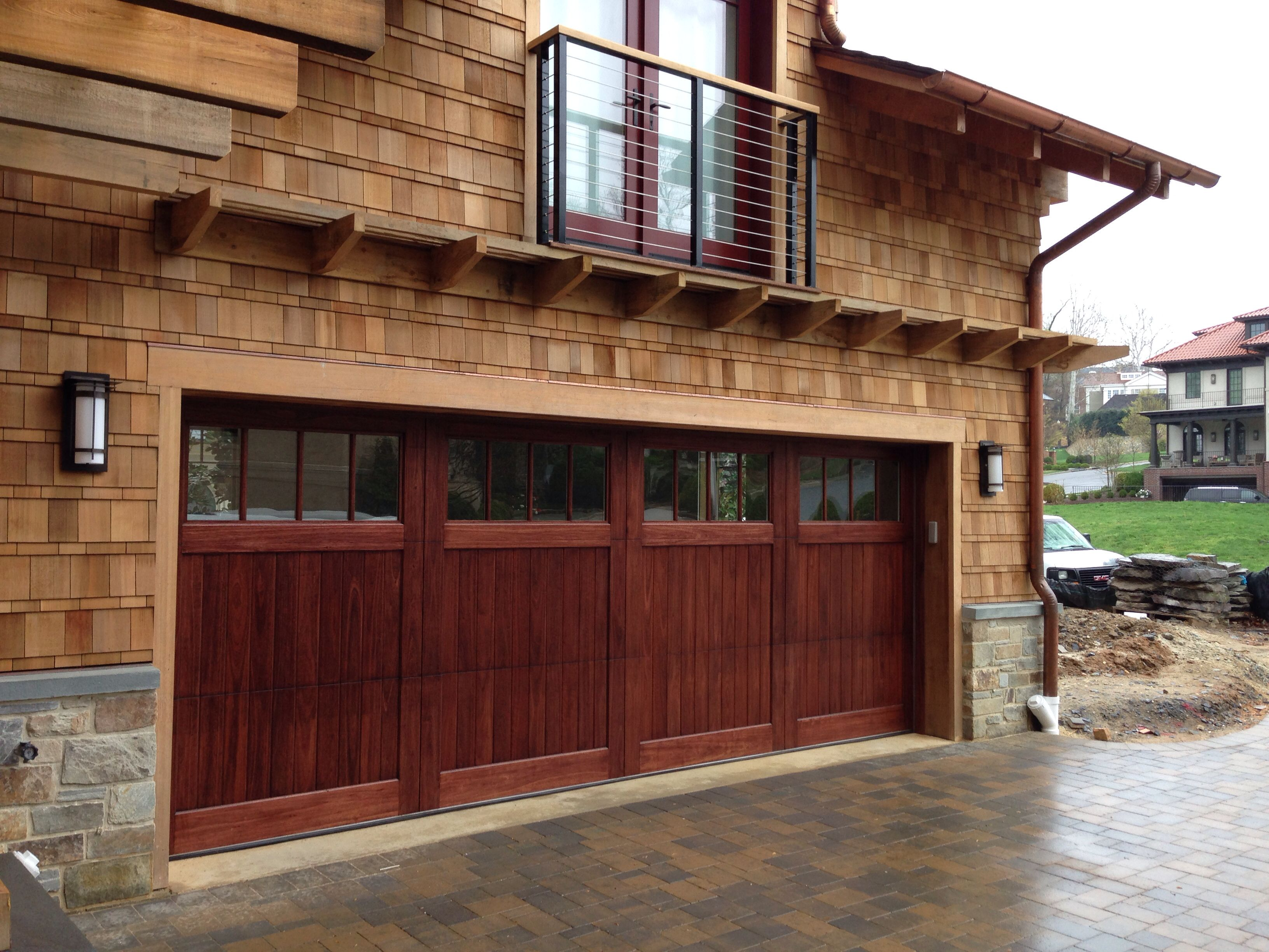 Stained Red Grandis Wood Carriage Door In Nw Washington Dc By