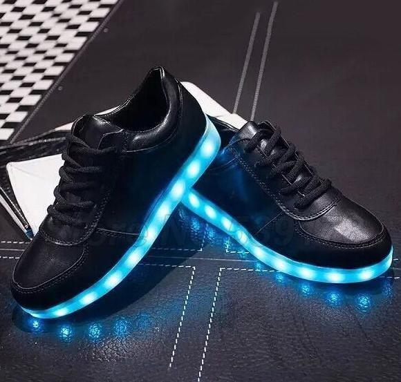 newest 7ecec 33d5c Black Hoverkicks LED Shoes | LED Adult Shoes | Neon shoes ...