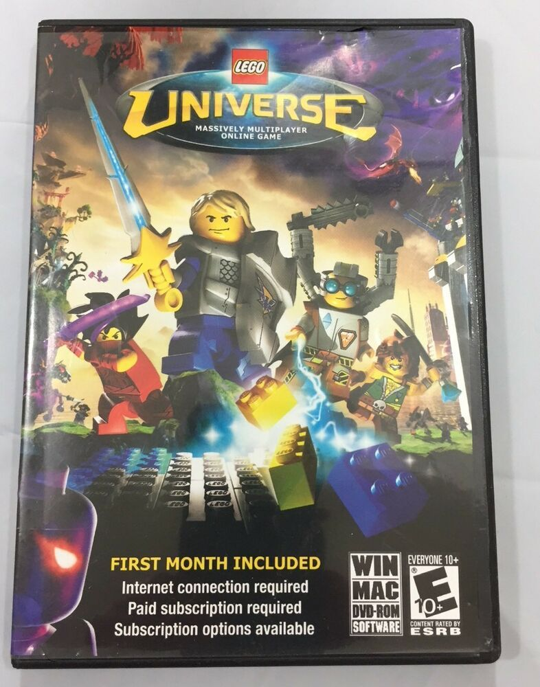 Lego Universe Massively Multiplayer Online Game DVDRom