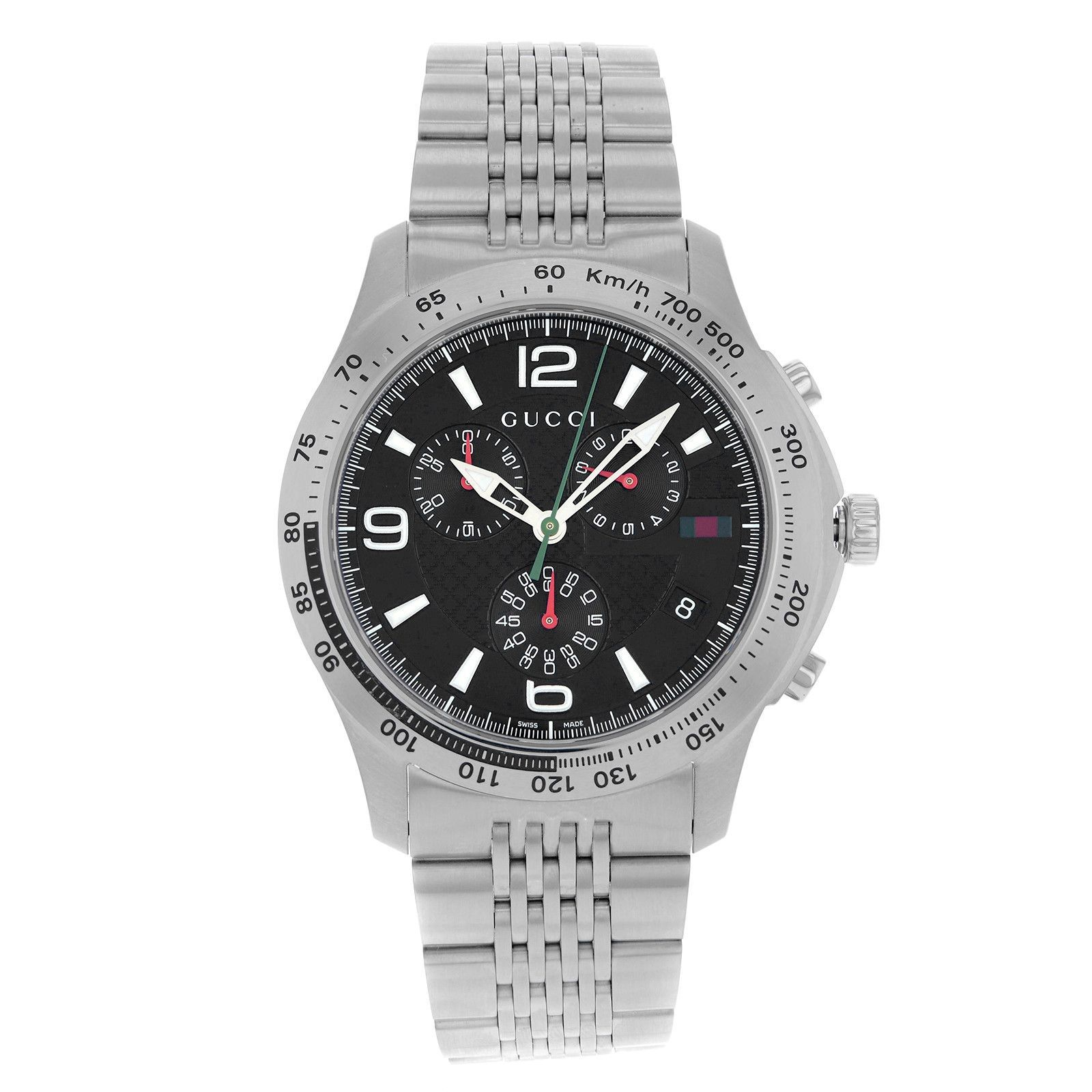 51f6cc85931 Get the lowest price on Gucci 126 Stainless Steel Quartz Men s Watch and  other fabulous designer clothing and accessories! Shop Tradesy now