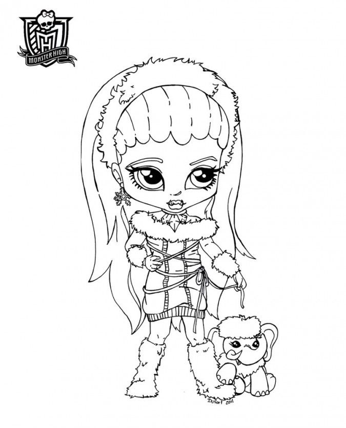 Dibujos para colorear de Monster High  Abbey Bominable y su
