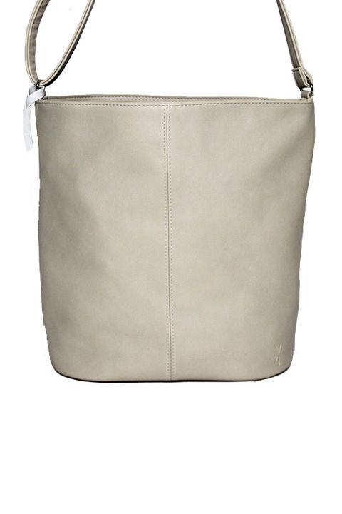 Minimal Bucket Bag in Ivory by Angela Roi. Benefits the Lung Cancer Alliance.