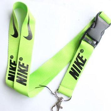 Nike Lanyard Key Chain ID Strap Lime Green Black ELITE ☆FREE USA SHIPPING