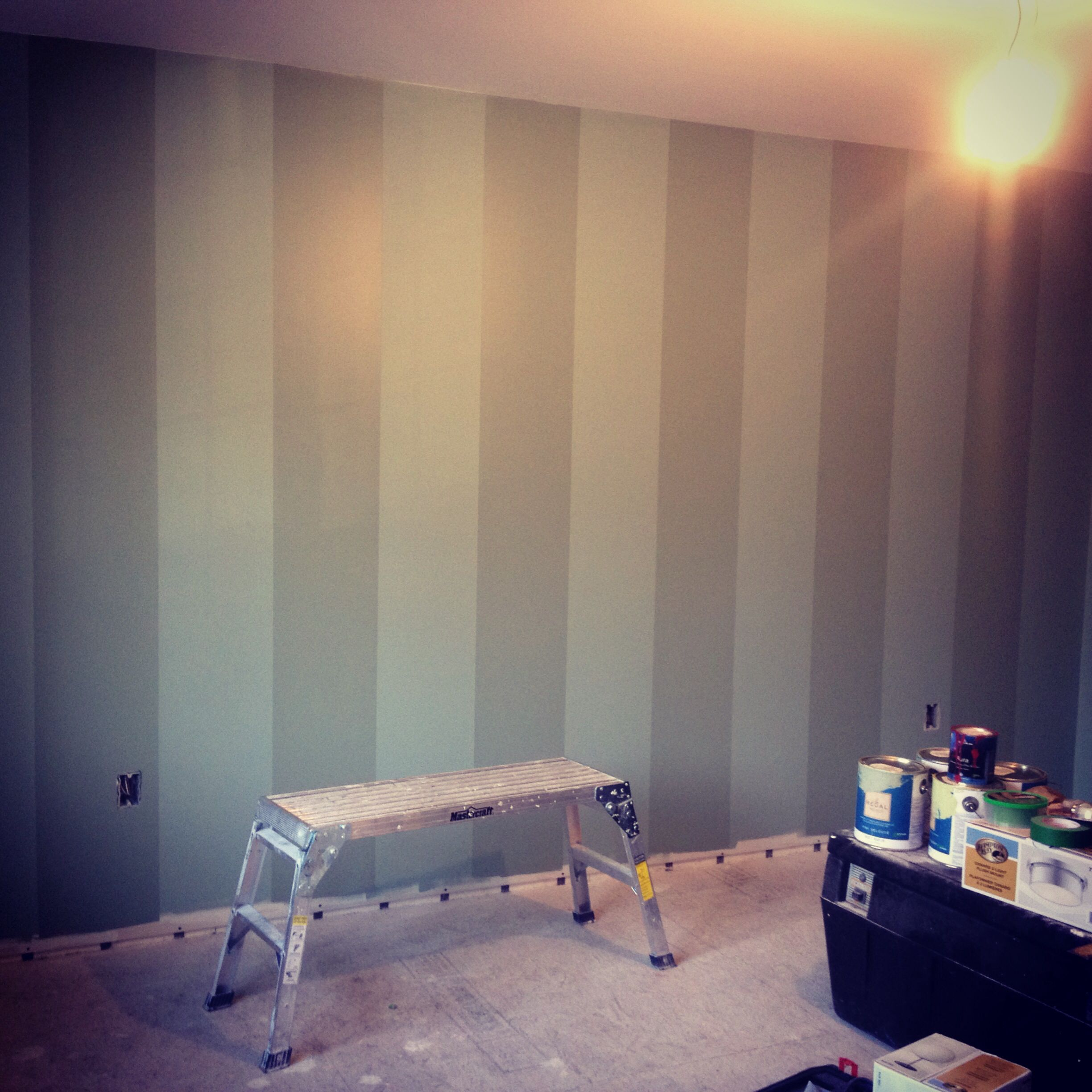 Spruce Up A Bare Accent Wall: Spruce Up Your Bedroom With An Accent Striped Wall Instead