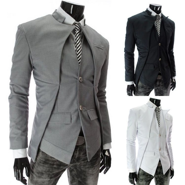 details zu herren mantel anzug sakko blazer suits jacke. Black Bedroom Furniture Sets. Home Design Ideas