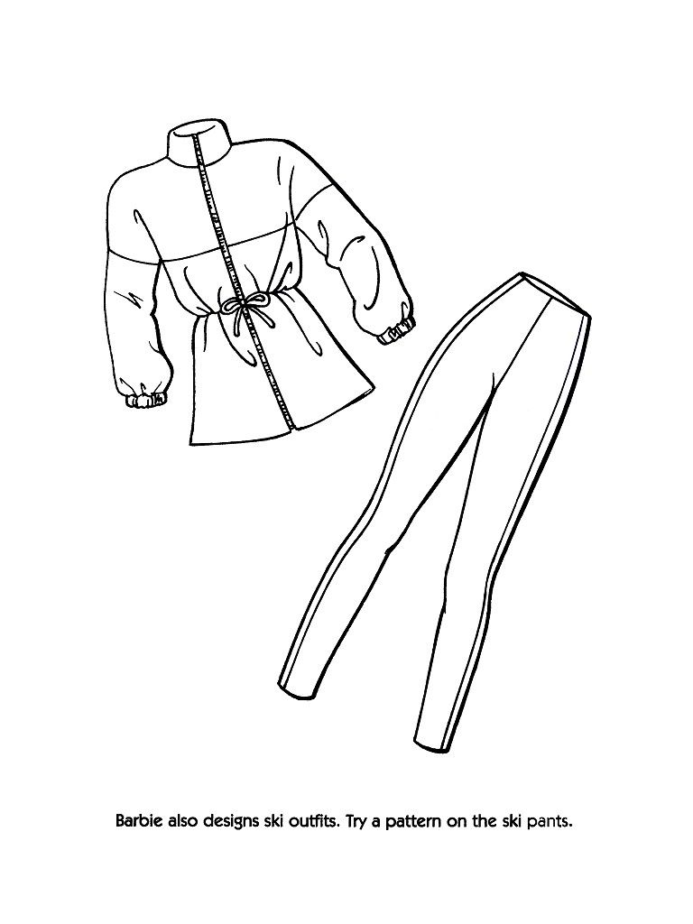 barbie fashion clothes coloring page 02 | Spa Day Party | Pinterest ...