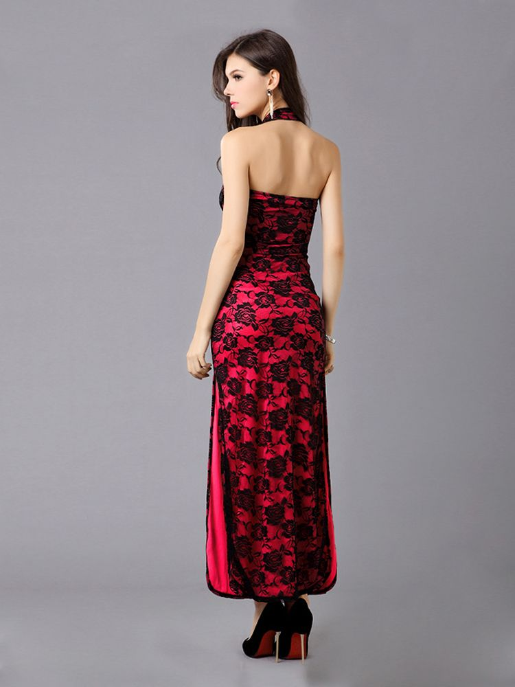 red #Cheongsam Design Embroidery #evening #dress,is this your style?