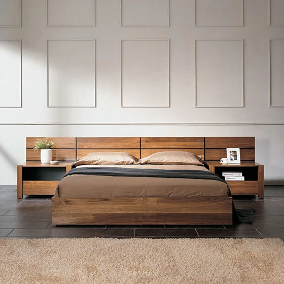 NORYA Bed (1.5m) in American Black Walnut (NYSKACDI41