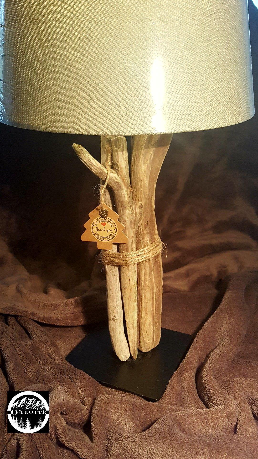 Créations En Bois Flotté lampe en bois flotté | lampe bois, lampe bois flotté et