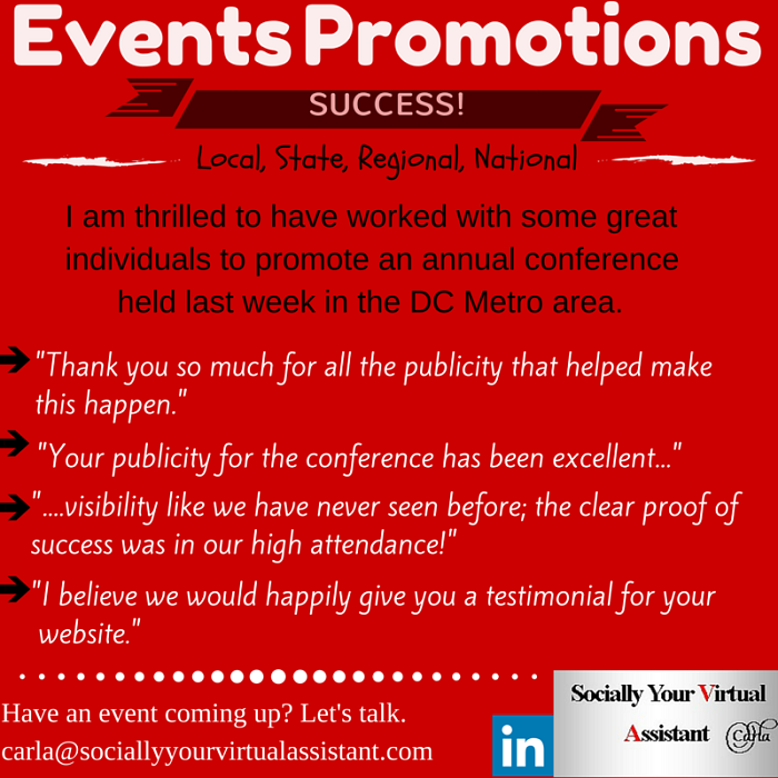 LinkedIn + your event = grand exposure. Ask me how carla