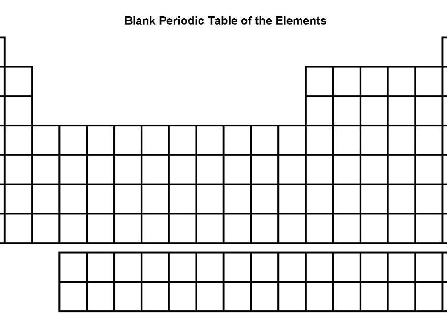 Blank Periodic Table Blankperiodictable Periodictableblank Blank