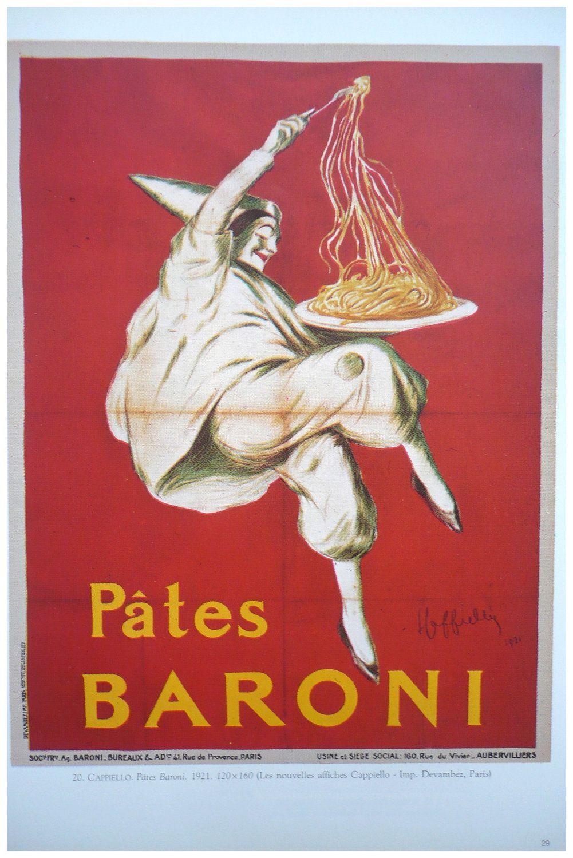 Pianigiani Maccheroni 1922 Italian Pasta Art Vintage Poster Print Kitchen Art