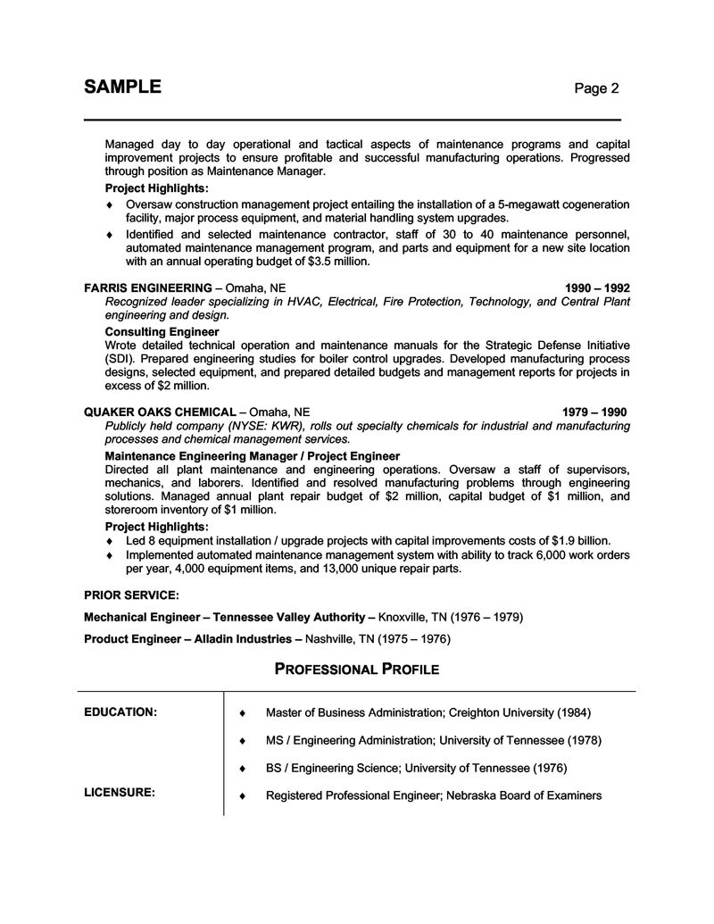 Professional Hospitality Resume Writers - Vision professional ...