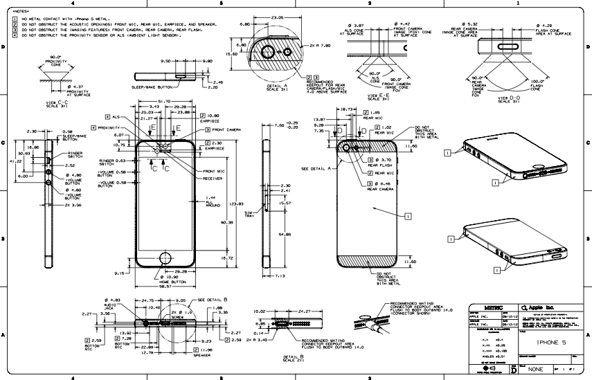 These iphone 5 blueprints show the remarkable precision with which these iphone 5 blueprints show the remarkable precision with which the device is built malvernweather Images