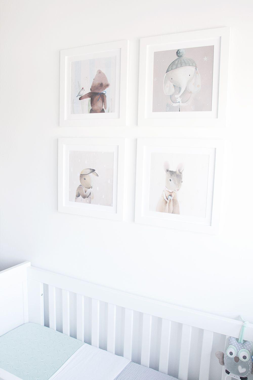 Mintgroene Babykamer Accessoires.Onze Mintgroene Babykamer Kinderkamer Met Schilderijen Van