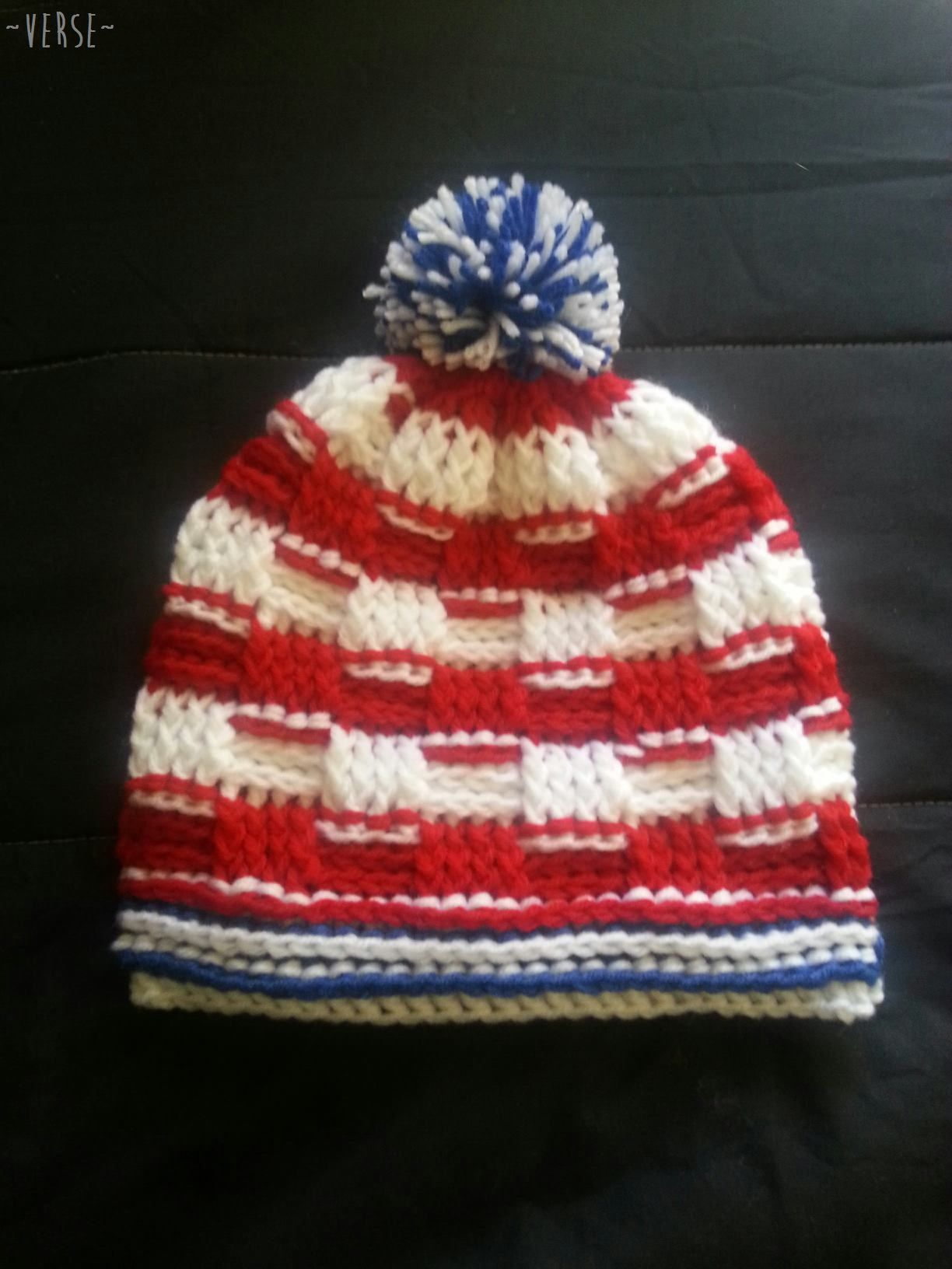 American Flag Basketweave Beanie --> https://www.etsy.com/listing ...