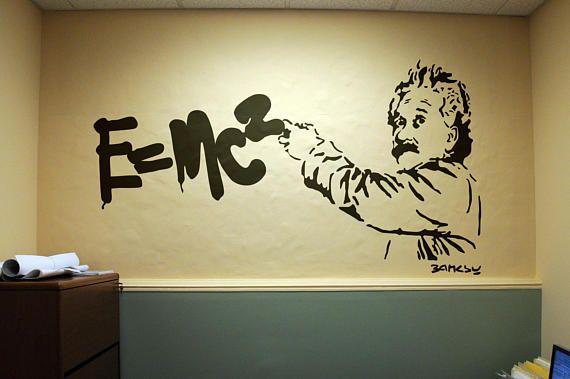Banksy version of Einstein Theory of Relativity... Price : 34.90 ...