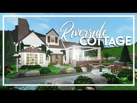 Welcome To Bloxburg Small Riverside Cottage 100k Youtube Riverside Cottage Riverside House Luxury House Plans