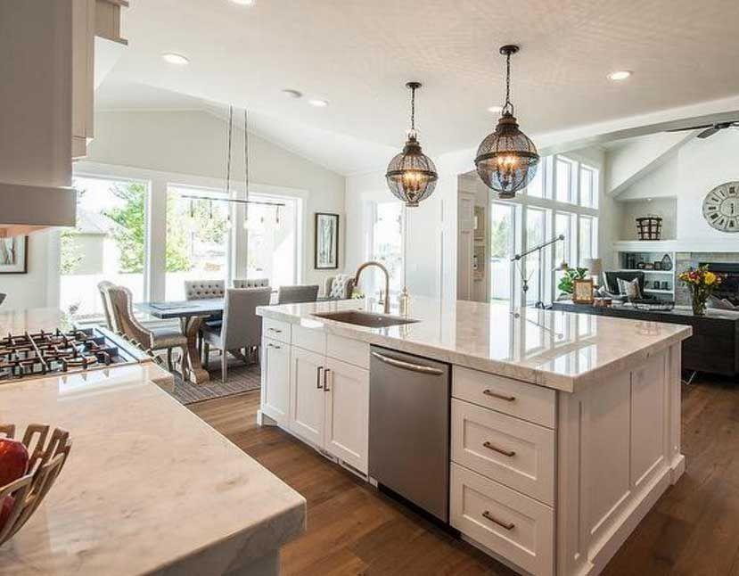 modern kitchen island ideas with sink