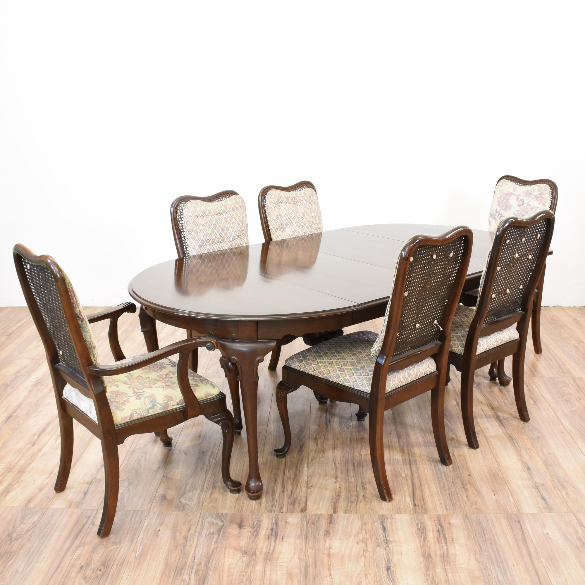 This Ethan Allen Dining Set Is Featured In Solid Wood And A Dark