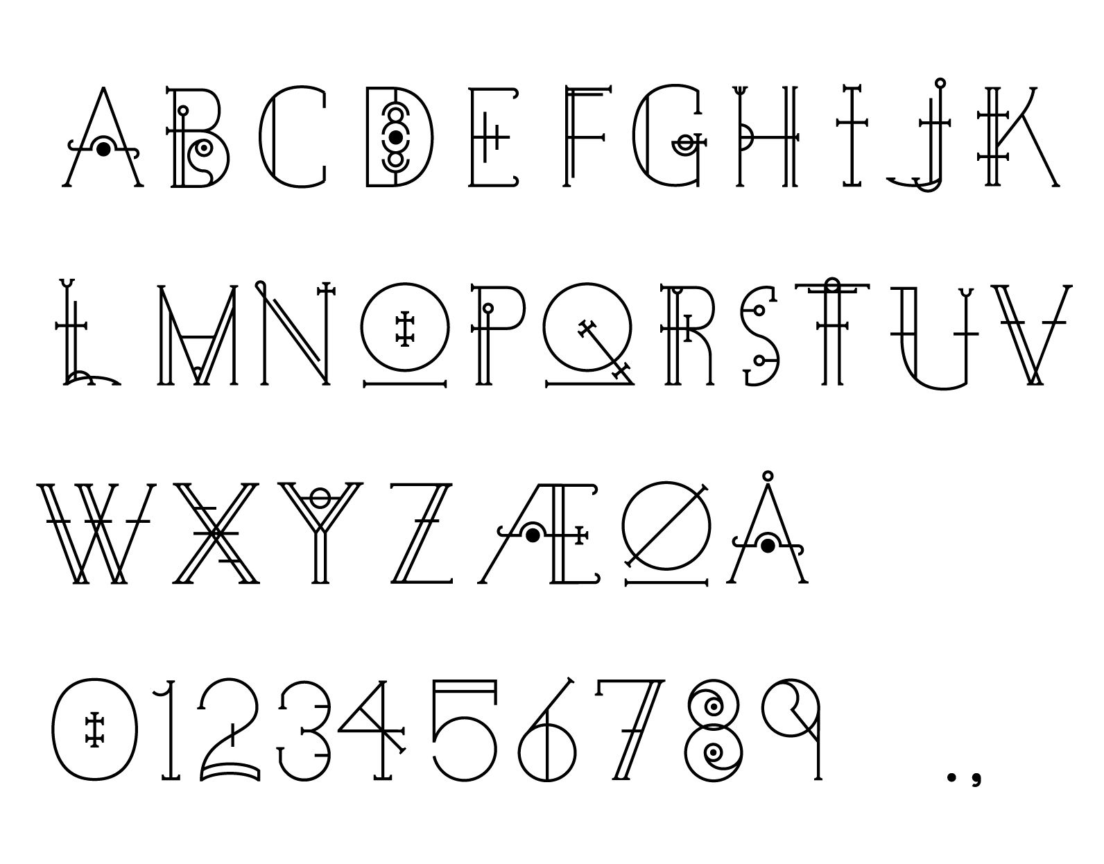 Occult Font Decided To Design A Display Font Using Occult Symbols