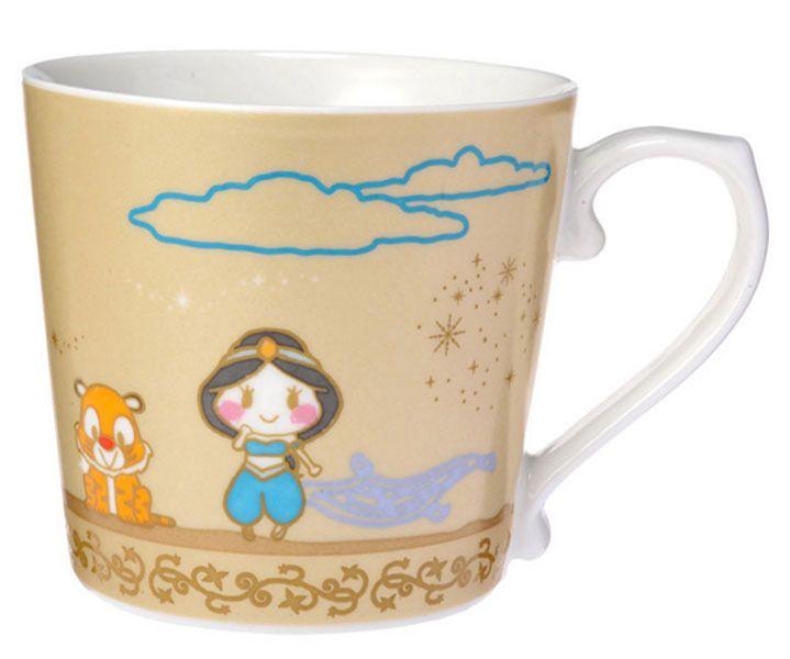 Tokyo Disney Sea Aladdin tableware Aladdin and Jasmine Mug Cup New from Japan