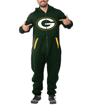 Green Bay Packers Hooded Jumpsuit Adult Tyxgb76aj