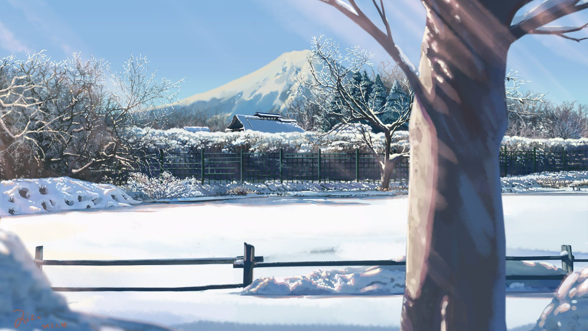 Background Image Click Pic To Full Hd Winteranime Winter Art Anime Background Anime Scenery Anime Scenery Wallpaper Winter Scenery