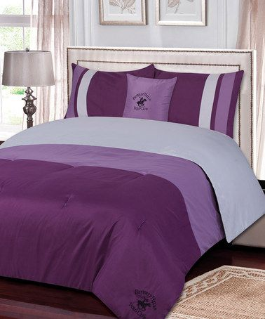 Take a look at this Purple Reversible Comforter by Ma Maison on #zulily today!