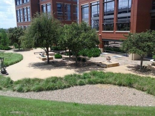 Sitting area at the Tarrant County College Trinity River Campus
