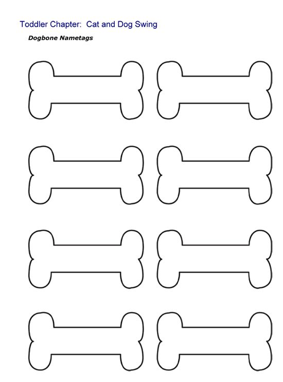Best Photos Of Dog Bone Printables Free Printable Dog Bone Templates Printable Free Template Printable Puppy Coloring Pages