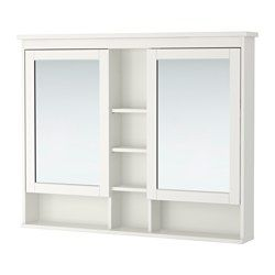Hemnes Mirror Cabinet With 2 Doors White 47 1 4x38 5 8 Ikea Bathroom Mirror Cabinet Mirror Cabinets Hemnes