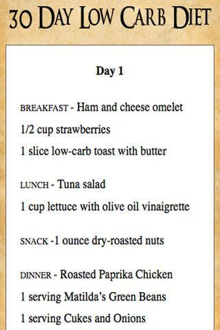 30 Day Low Carb Diet Meal Plan | Lose Weight 2017 | Pinterest ...