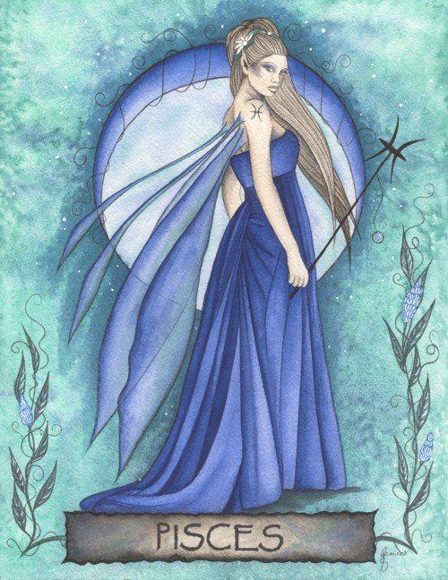 Pisces Zodiac Fairy by Jessica Galbreth