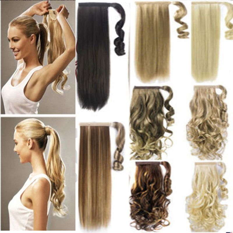 Us 100 real new clip in hair extension pony tail wrap around us 100 real new clip in hair extension pony tail wrap around ponytail as humans pmusecretfo Choice Image