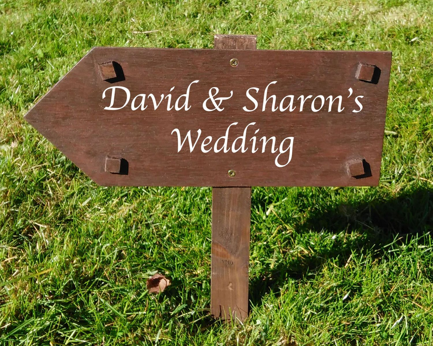 13++ Wedding direction signs white info