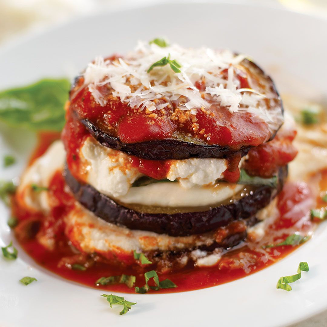 Your Traditional Italian Lasagna With A Twist Try Stacking Instead Of Layering Lasagna Recipe Eggplant Lasagna Fresh Mozzarella Recipe