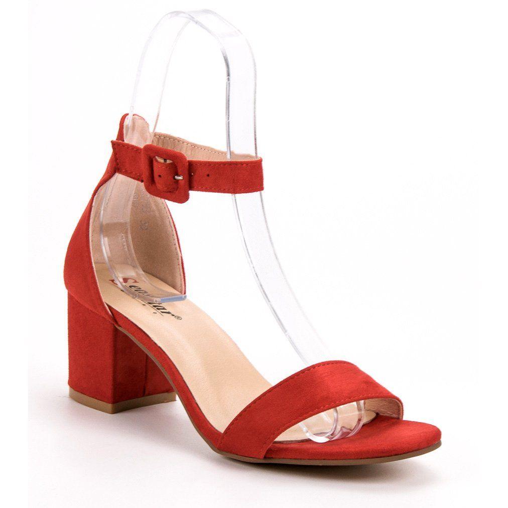 Seastar Czerwone Sandalki Na Obcasie Heels Shoes Sandals