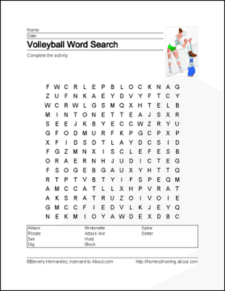 Learn About Volleyball With Free Volleyball Printables Volleyball Party Volleyball Volleyball Crafts