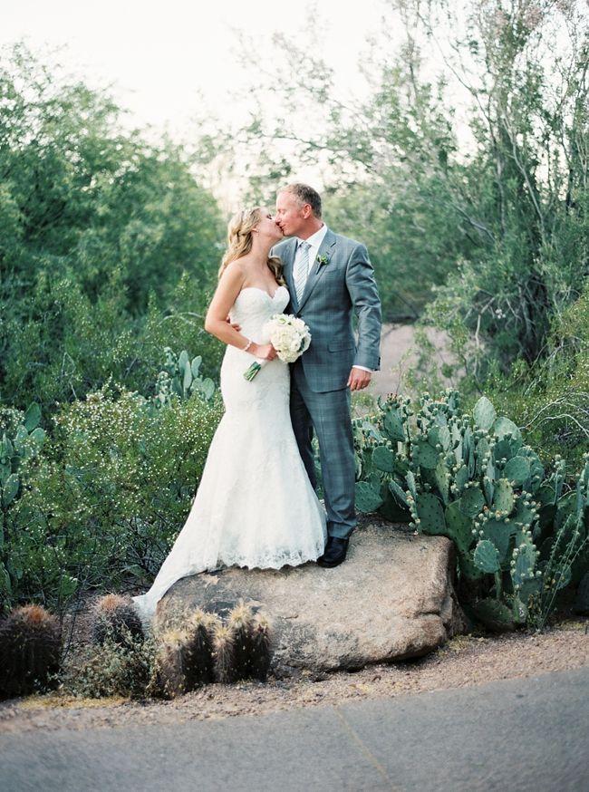 Lauren in her Watters gown Wedding, Arizona wedding, Bride
