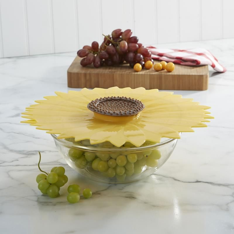 silicone sealing lid sunflower yellow kitchen stuff and kitchens