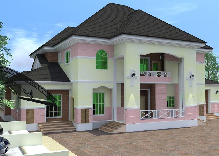 Top 5 beautiful house designs in nigeria plan pinterest duplex house design house design for How much to paint a two bedroom apartment