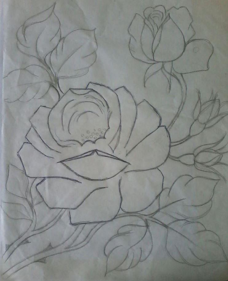 Pin De татьяна Em рисунки растений Riscos Para Pintura