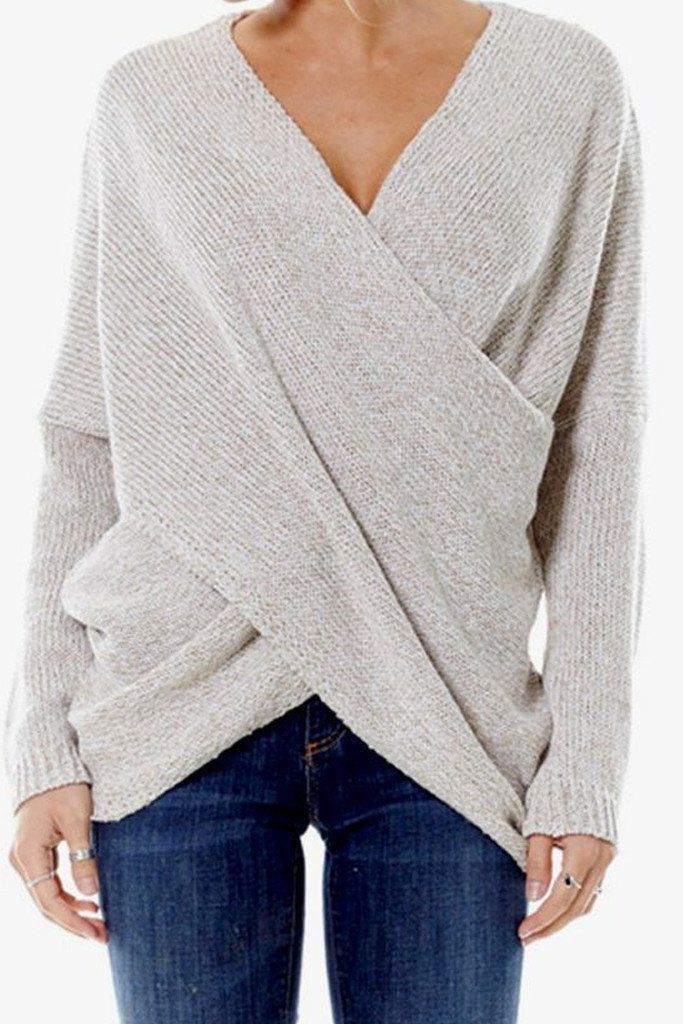 00a49d0b6 This amazing knit sweater is perfect layered over white skinnies or pop it  in your tote to throw on when it gets chilly by the bonfire - Model is  Wearing a ...