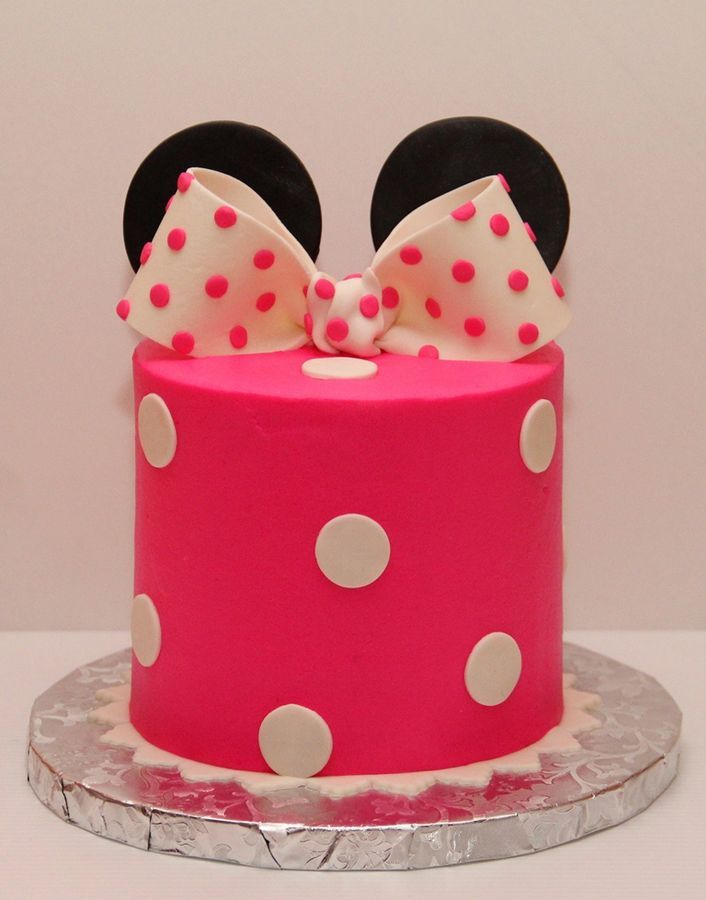 Simple Minnie Mouse Smash Cake Cakes And Cupcakes For Kids