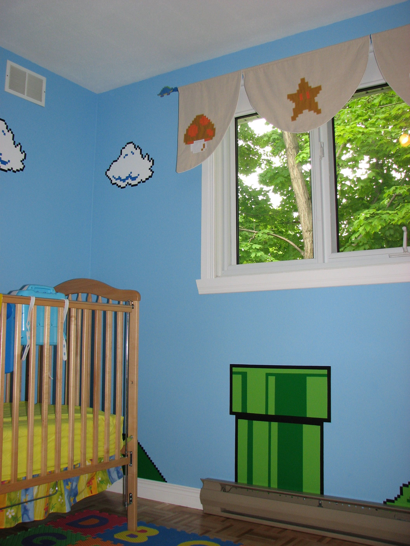 Mario bros bedroom boy chambre gars gar on chambre emile chambre mario chambre deco chambre - Deco chambre mario ...