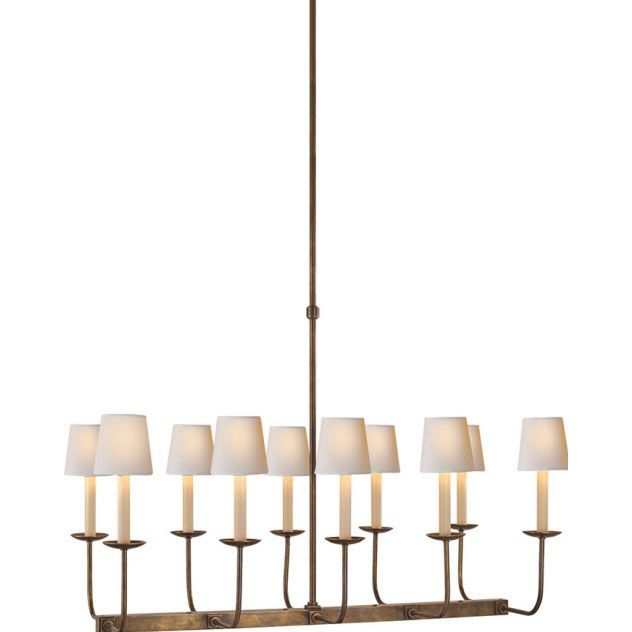 Visual comfort sl5863hab studio sandy chapman 10 light linear visual comfort sl5863hab studio sandy chapman 10 light linear branched chandelier in hand rubbed antique brass aloadofball Images