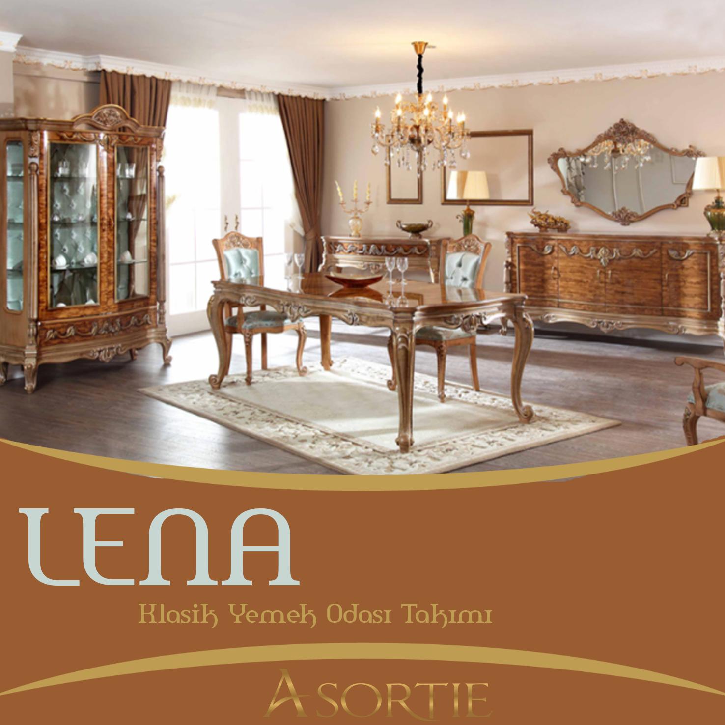 Lena Klasik Yemek Odas Takm Classic Dining Room Team